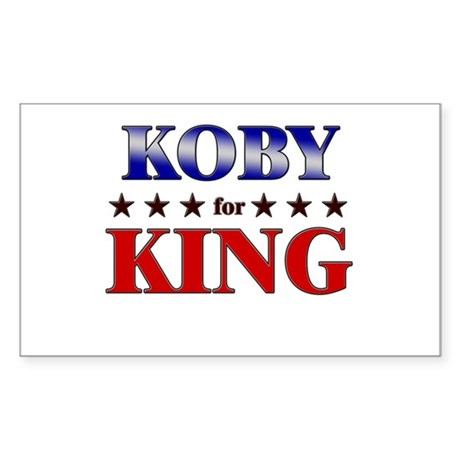 KOBY for king Rectangle Sticker