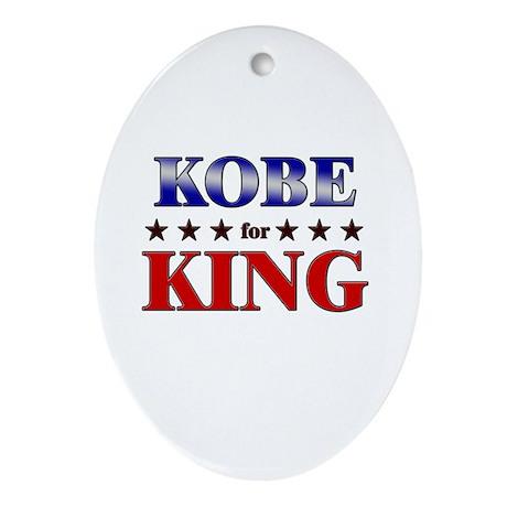 KOBE for king Oval Ornament