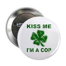 """Kiss Me, I'm a Cop 2.25"""" Button"""