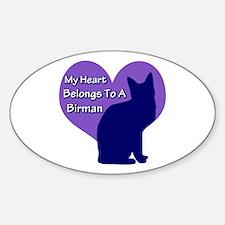 Heart Belongs To A Birman Oval Decal