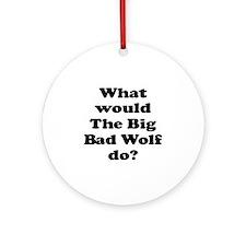 Big Bad Wolf Ornament (Round)