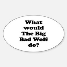 Big Bad Wolf Oval Decal