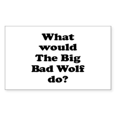 Big Bad Wolf Rectangle Sticker