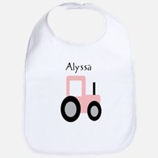 Alyssa - Pink Tractor Bib