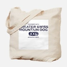 Property of Greater Swiss Mountain Dog Tote Bag