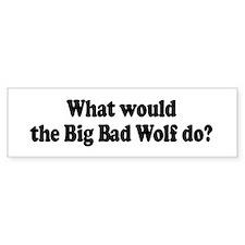 Big Bad Wolf Bumper Car Sticker