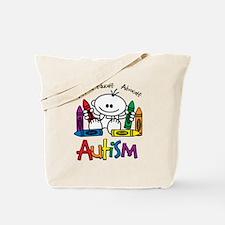 Autism Crayons Tote Bag