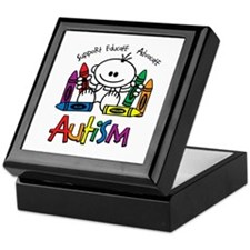 Autism Crayons Keepsake Box