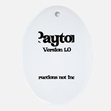 Payton - Version 1.0 Oval Ornament