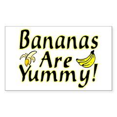 Bananas Rectangle Decal
