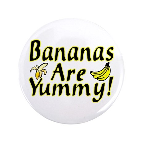 "Bananas 3.5"" Button (100 pack)"