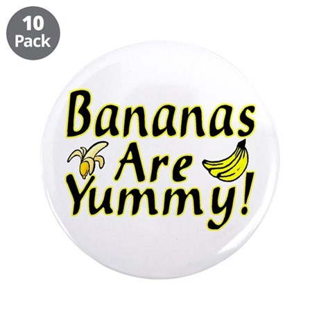"""Bananas 3.5"""" Button (10 pack)"""