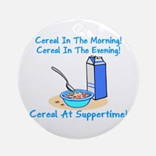 Cereal All The Time Ornament (Round)