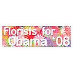 Florists for Obama '08 bumper sticker