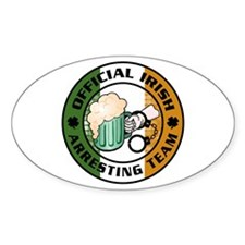 Irish Arresting Team Oval Decal