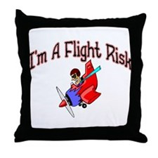 Flight Risk Throw Pillow