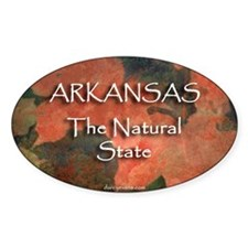 The Natural State Oval Decal