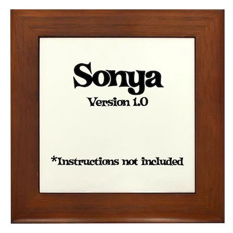 Sonya - Version 1.0 Framed Tile