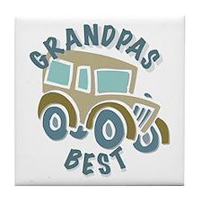Grandpas Best w/ Classic Car Tile Coaster