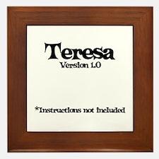 Teresa - Version 1.0 Framed Tile