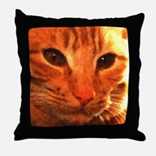 'Clyde the Ginger Cat' Throw Pillow