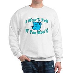 I Won't Tell Sweatshirt