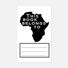 African Bookplate Rectangle Decal