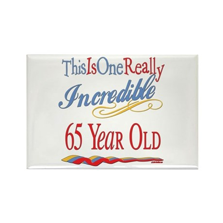 Incredible At 65 Rectangle Magnet (100 pack)