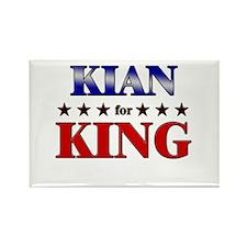 KIAN for king Rectangle Magnet