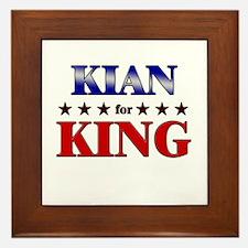 KIAN for king Framed Tile