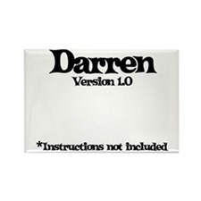 Darren - Version 1.0 Rectangle Magnet