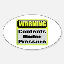 Contents Under Pressure Oval Decal