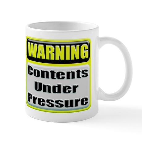 Caution contents under high pressure