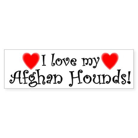 I Love My Afghan Hounds Bumper Sticker