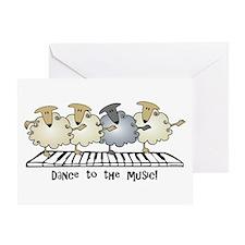 Sheep Chorus Line Greeting Card
