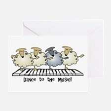 Sheep Chorus Line Greeting Card