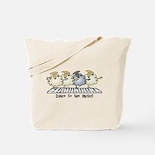 Sheep Chorus Line Tote Bag