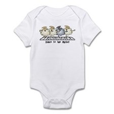 Sheep Chorus Line Infant Bodysuit