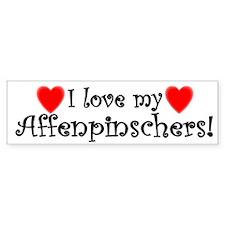 I Love My Affenpinschers Bumper Bumper Sticker