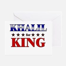 KHALIL for king Greeting Card