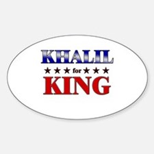 KHALIL for king Oval Decal