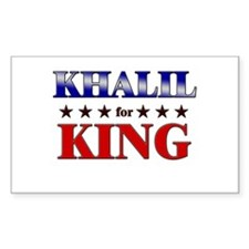 KHALIL for king Rectangle Decal