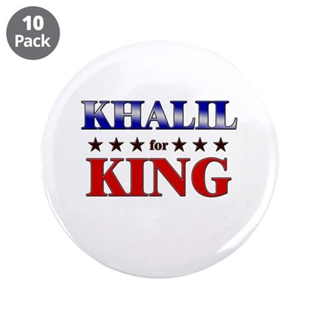"""KHALIL for king 3.5"""" Button (10 pack)"""
