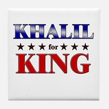 KHALIL for king Tile Coaster