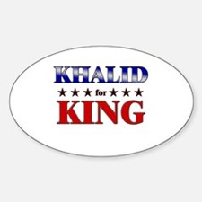 KHALID for king Oval Decal