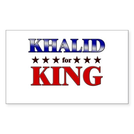 KHALID for king Rectangle Sticker