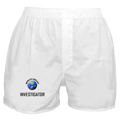 World's Coolest INVESTIGATOR Boxer Shorts