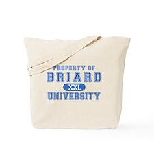 Briard University Tote Bag