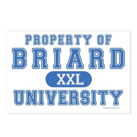 Briard University Postcards (Package of 8)