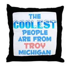 Coolest: Troy, MI Throw Pillow